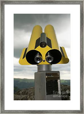 Yellow Binoculars Framed Print by Bernard Jaubert