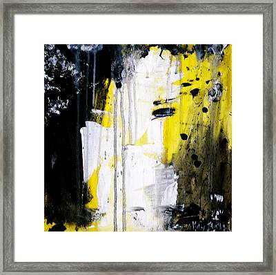 Yellow-black Framed Print by Kelly S