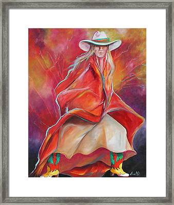 Yellow Boots Framed Print by Donna Weil