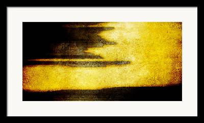 Brett Pfister Yellow Abstract Horizontal Lines Epic Amazing Colors Framed Prints