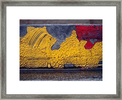Yellow Brushes Framed Print by Ludmil Dimitrov
