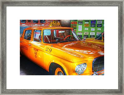 Yellow Cab No.29 Framed Print by Dan Stone