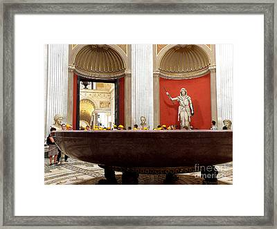Framed Print featuring the photograph Yellow Caps In Vatican by Tanya  Searcy