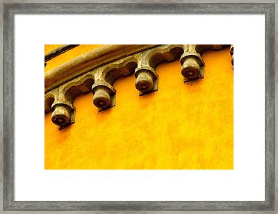 Yellow Castle Framed Print by Michael Cinnamond