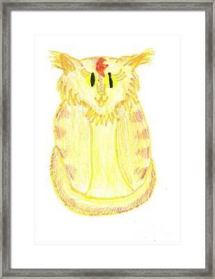Yellow Cat Framed Print by Jeannie Atwater Jordan Allen