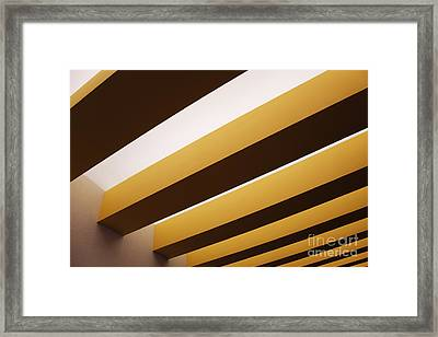 Yellow Ceiling Beams Framed Print by Jeremy Woodhouse
