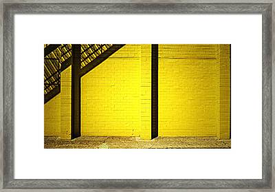 Yellow City Scene Framed Print