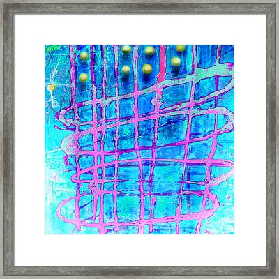 Framed Print featuring the painting Yellow Dots by Lolita Bronzini