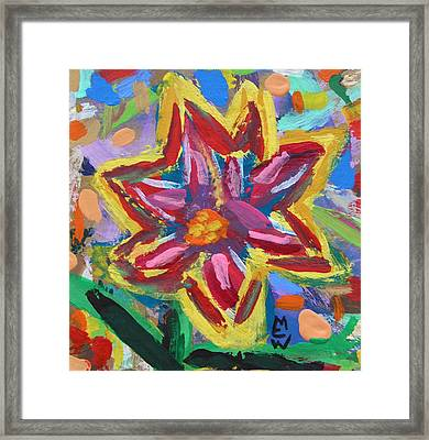 Yellow Edge-july Framed Print by Mary Carol Williams