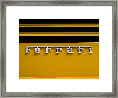 Yellow Ferrari Brightwork Framed Print by Douglas Pittman