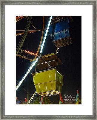 Framed Print featuring the photograph Yellow Ferris Wheel Bucket by Renee Trenholm