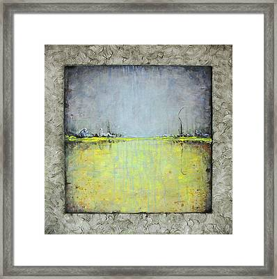 Framed Print featuring the painting Yellow Field by Lolita Bronzini