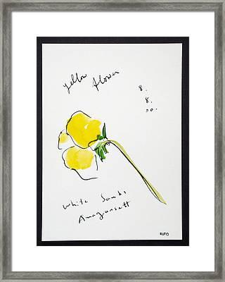 Yellow Flower Amagansett Framed Print by David Rufo