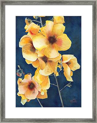 Yellow Flowers Framed Print by Ken Powers