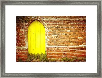 Yellow Gateway Framed Print by Tom Gowanlock