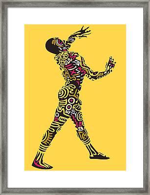 Yellow Haring Framed Print