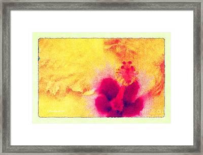 Yellow Hibiscus Flower Framed Print