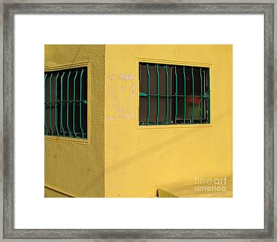 Yellow House Framed Print by Yali Shi
