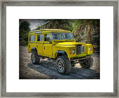 Yellow Jeep Framed Print by Adrian Evans