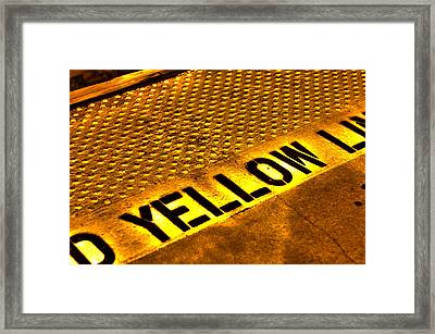 Yellow Framed Print by Jeffrey Auger