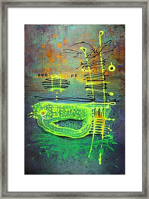 Framed Print featuring the painting Yellow Ladder by Lolita Bronzini