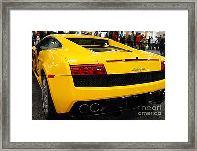 Yellow Lamborghini Diablo . 7d9588 Framed Print by Wingsdomain Art and Photography