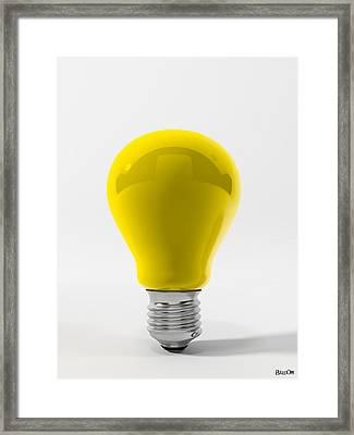 Yellow Lamp Framed Print by BaloOm Studios