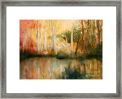 Yellow Medicine Creek 2 Framed Print by Julie Lueders
