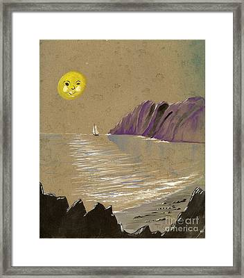 Yellow Moon Watch Framed Print