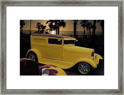 Framed Print featuring the photograph Yellow Panel by Bill Dutting