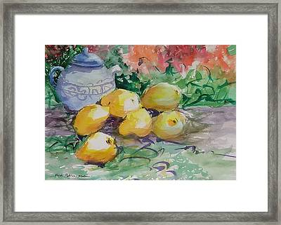 Yellow Pears Framed Print by Heidi Patricio-Nadon