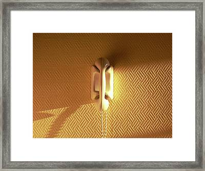 Yellow Phone Framed Print by Max Nathan