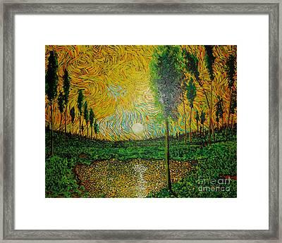 Yellow Pond Framed Print