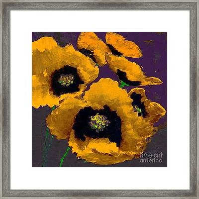 Yellow Poppies Framed Print