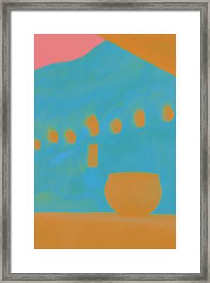 Yellow Pot Framed Print by Carol Leigh