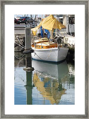 Yellow Reflection Framed Print by Louise Peardon