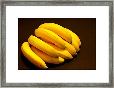 Yellow Ripe Bananas Framed Print by Jose Lopez