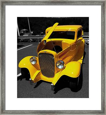 Yellow Rod Framed Print