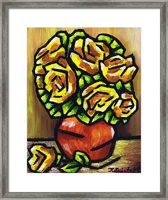 Yellow Roses Framed Print by Kamil Swiatek