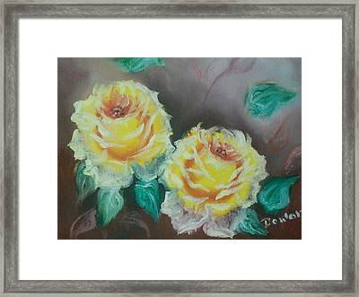 Yellow Roses Framed Print by Raymond Doward