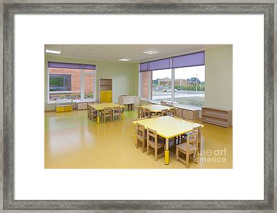 Yellow School Classroom Framed Print by Jaak Nilson
