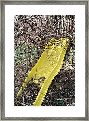 Yellow Slide Framed Print by Todd Sherlock
