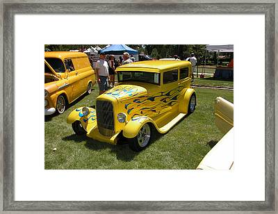 Framed Print featuring the photograph Yellow Speed by Mary M Collins