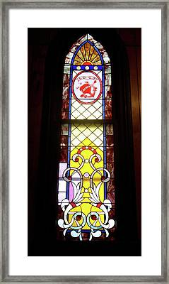 Yellow Stained Glass Window Framed Print by Thomas Woolworth