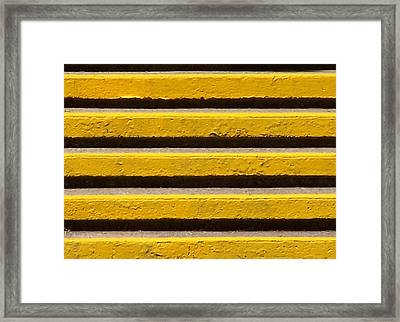 Yellow Steps Framed Print by Steven Huszar