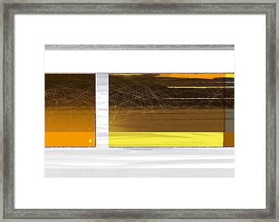 Yellow Storm Framed Print by Naxart Studio