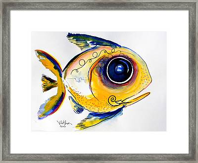 Yellow Study Fish Framed Print by J Vincent Scarpace