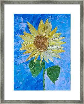 Yellow Sunshine Framed Print by Heidi Smith