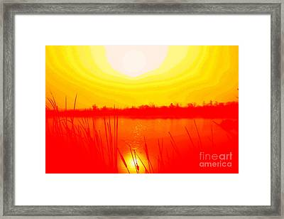 Yellow Tangerine Day Framed Print by Julie Lueders