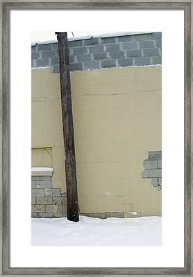 Yellow Wall Framed Print by Todd Sherlock
